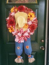 Scarecrow Wreath Extra Large-Red in Naperville, Illinois