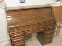 Solid Oak Roll-Top Desk and Chair in Quantico, Virginia