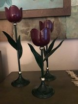 Tulip candleholders in Camp Pendleton, California