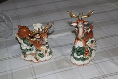 Vintage Fitz and Floyd- Snowy Woods Deer Candle Holders in Tacoma, Washington