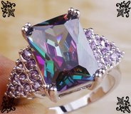 New - Rainbow Topaz and Amethyst Ring - Size 7 in Alamogordo, New Mexico