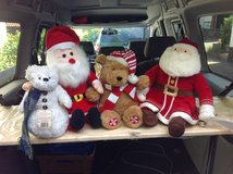 Boyd Bear, Plush Santa, Bear w/ Hat, Santa w/ Bell Christmas Decorations in Ramstein, Germany