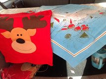 Table Cloth & 5 Reindeer Chair Back Covers in Ramstein, Germany