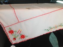 Table Cloth White w/ Red Edging in Ramstein, Germany