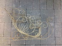 Gold Metal Sled Double Plant Stand in Ramstein, Germany
