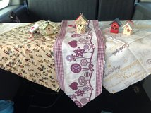 Table Clothes, Table Runner & Wooden Bird House Ornaments in Ramstein, Germany