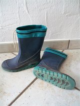 Blue and green rain boots size 36 EU 4 US in Stuttgart, GE