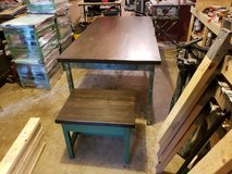 Made to Order Rustic Dining Table and Matching Benches in Fort Leonard Wood, Missouri