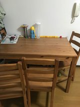 Dining table with 4 chairs in Yokota, Japan