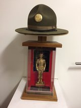 Authentic Drill Sgt Hat with Display case and thophy in Heidelberg, GE