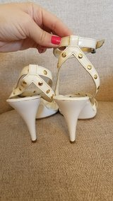 Coach Heels white and Gold 8.5 in Kingwood, Texas