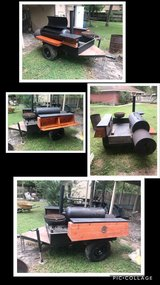 Handmade Bbq pit on trailer in Conroe, Texas