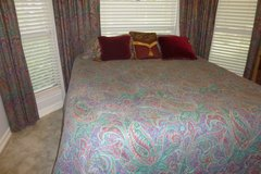 REDUCED 50% OFF Bedroom Set: Queen Comforter/Bedspread,Pillow Shams,Valances, Drapes, Rods, Hard... in Rosenberg, Texas