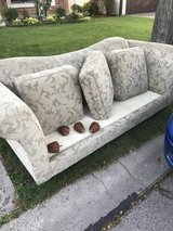 CURB ALERT!! Free couch- garbage comes in the am so hurry!! in Naperville, Illinois
