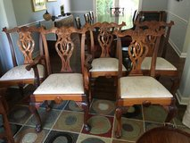 Elegant Chippendale style dining chairs in Chicago, Illinois