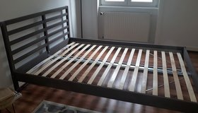 Ikea bed 140x200 with slats, used only for 5 months! in Wiesbaden, GE