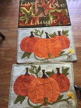 Fall throw rugs (set of 3) in Naperville, Illinois