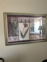 Framed flower print in Camp Pendleton, California