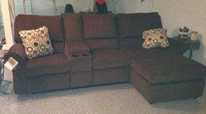 Power reclining couch with chaise in Fort Riley, Kansas