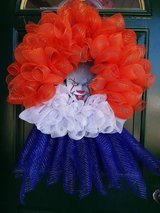 Pennywise IT Mesh Wreath in Naperville, Illinois