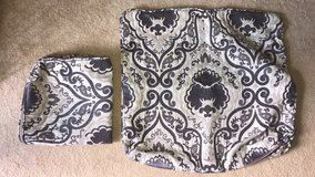 two medium dark purple couch pillow cases in Okinawa, Japan