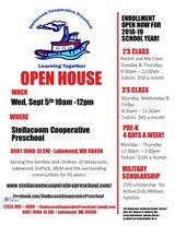 Steilacoom Cooperative Preschool Enrolling Now in Tacoma, Washington