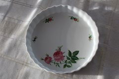 French quiche or fruit tart pan, Christineholm pink roses china in Tacoma, Washington