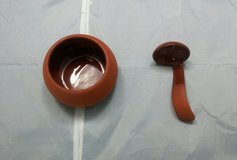 BORTNER & BORTNER TERRA COTTA SALSA BOWL W/ SERVING SPOON in Tacoma, Washington