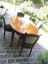 antique solid wood table 4 chairs from France in Ramstein, Germany
