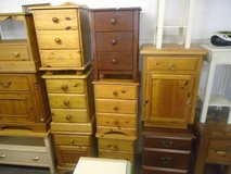 Pine bedsides and cupboards in Lakenheath, UK