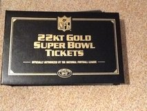 NFL 22kt  Gold Super Bowl Tickets in Wiesbaden, GE