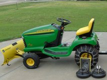"""JD Lawn Tractor with 44"""" Snow Blade, Chains & Weights in Fort Riley, Kansas"""