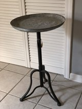 Vintage Rustic Farmhouse Tall Side Table in Bolingbrook, Illinois