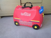 FRANK THE FIRE ENGINE TRUNKI SUITCASE in Lakenheath, UK