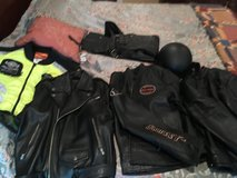 Leather jackets and chaps in Fort Knox, Kentucky