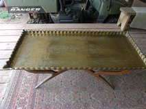 Brass Coffee Table with Wood Stand in Alamogordo, New Mexico