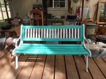 Cast Iron and Wood Bench in Alamogordo, New Mexico