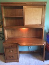 FREE DESK! Solid Wood with Cork Board and Hutch in Aurora, Illinois