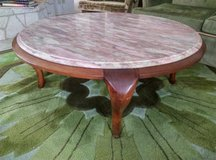 Pink Italian Marble Coffee Table in Lackland AFB, Texas