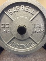 35 lb cast iron plates in Travis AFB, California