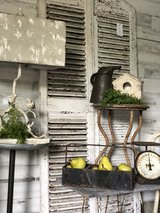 Vintage Farmhouse Chippy Shutters in Aurora, Illinois