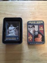 "CAL RIPKIN JR & LOU GEHRIG - 1996 ""Metallic Impressions"" Embossed Metal Cards with Tin in Fort Lewis, Washington"