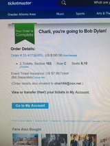 Bob Dylan (2 tickets) in Perry, Georgia