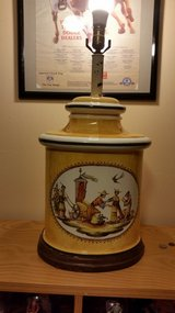 Vintage Hand painted lamp in Quantico, Virginia