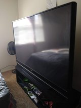73 inch tv (Mitsubishi) 2012 with stand in Hinesville, Georgia