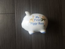 MY FIrst piggy bank (blue) in Okinawa, Japan