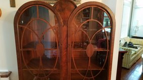 "Antique ""Huntley Simmons"" display cabinet in Perry, Georgia"