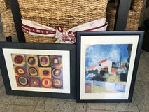 2 Multicolor pictures in navy blue frames in Ramstein, Germany