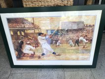 Baseball poster art in hunter green frame in Ramstein, Germany