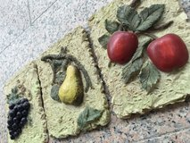 Set of 3 resin fruit motif wall art in Ramstein, Germany